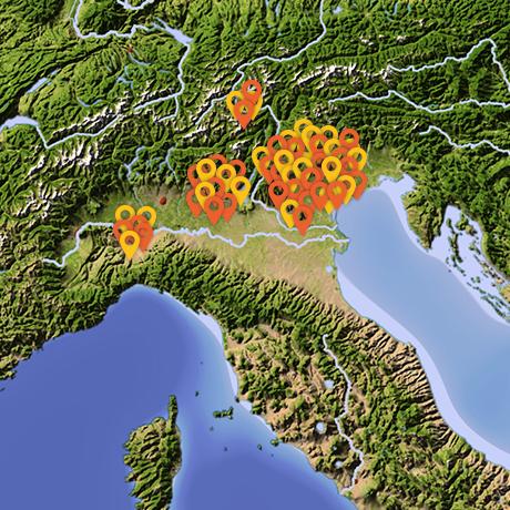 La presenza di Rinnova in Italia