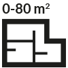 0 - 80 mq